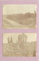LENS (pas De Calais) -  Destructions,guerre 1914/18 (photo Année 1920 (format 7,8cm X 5,4cm) - Lugares