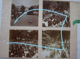 Photox4 Funérailles Koningin Marie Henriette De Habsbourg LEPOLD II Soldats Roi Koning Royauté 1902 Laeken ? - Guerre, Militaire
