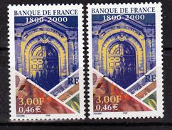 France 3299 Banque De France Variété Bleu Gris Et Normal Neuf ** TB MNH Sin Charnela - Variétés Et Curiosités