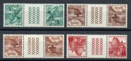 Schweiz Suisse 1942: Kehrdrucke Mit Zwischensteg Se-tenant Avec Pont Zu S53y-56y Mi KZ9yE-13yE ** MNH (Zu CHF 7.00) - Kehrdrucke