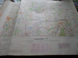 EINDHOVEN C4 1/100.000 ( Edit./ Uitg. 1957 ) Stafkaart IGMB M 632 ! - Europe