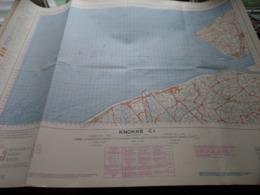 KNOKKE C1 - 1/100.000 ( Edit./ Uitg. 1957 ) Stafkaart IGMB M 632 ! - Europe