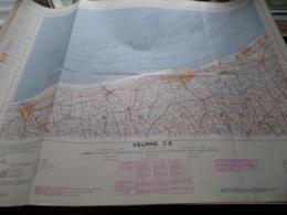 VEURNE C5 - 1/100.000 ( Edit./ Uitg. 1957 ) Stafkaart IGMB M 632 ! - Europe