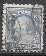 1914 20 Cents Franklin, Used, Perf 10 - Estados Unidos