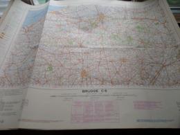 BRUGGE C6 - 1/100.000 ( Edit./ Uitg. 1957 ) Stafkaart IGMB M 632 ! - Europe