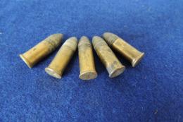 5 Munitions 320 Poudre Noire, Pour Collection - Armes Neutralisées