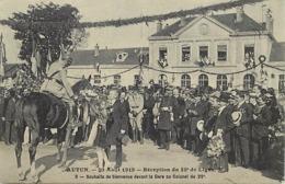 - Saône Et Loire -ref-A876- Autun - 30 Août 1919 -reception 29e De Ligne-n°03- Regiments - Militaria - Gare - Gares - - Autun