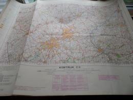 KORTRIJK C11 - 1/100.000 ( Edit./ Uitg. 1957 ) Stafkaart IGMB M 632 ! - Europe