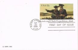 33932. Entero Postal SAINT LOUIS (Mo) 1981. Lewis And Clark Expedition - 1981-00