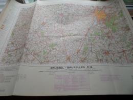 BRUSSEL / BRUXELLES C12 - 1/100.000 ( Edit./ Uitg. 1957 ) Stafkaart IGMB M 632 ! - Europe