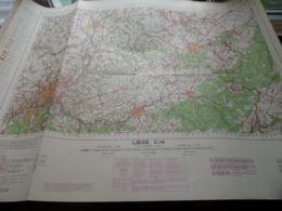 LIEGE C14 - 1/100.000 ( Edit./ Uitg. 1957 ) Stafkaart IGMB M 632 ! - Europe