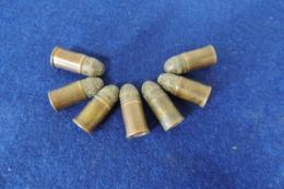 7 Munitions 380 Poudre Noire, Pour Collection - Armes Neutralisées