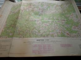 BERTRIX C21 - 1/100.000 ( Edit./ Uitg. 1957 ) Stafkaart IGMB M 632 ! - Europe