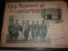 WWI  RARE  CLERMONT FERRAND 92 EME REGIMENT D INFANTERIE  1905 LIVRET 21  PHOTOS COM%PLET SAPEURS ESCRIME FOOT BALL... - Documents