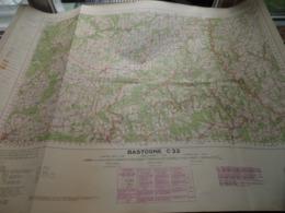 BASTOGNE C22 - 1/100.000 ( Edit./ Uitg. 1957 ) Stafkaart IGMB M 632 ! - Europe