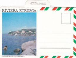 TOSCANA RIVIERA ETRUSCA CARTOLINA IN LIBRETTO NON VIAGGIATA - Italia