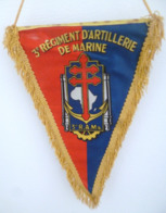 FANION 3° RAMA VERDUN REGIMENT D' INFANTERIE DE MARINE - Flags