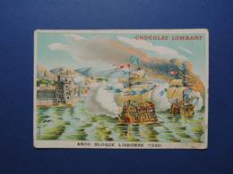CHROMO  Lith. MINOT. Chocolat LOMBART.  ANGO  Bloque  LISBONNE.  En  1530 - Vieux Papiers