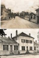 87. 2 CPSM. SAINT HILAIRE LES PLACES.  Route De Vialotte, Mairie, écoles.  Par Neyens. - France