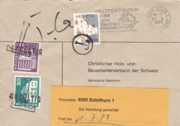 Nachporto Brief Von  Olten Nach Solothurn . 2 Marken UNGÜLTIG Gestempelt. - Postage Due