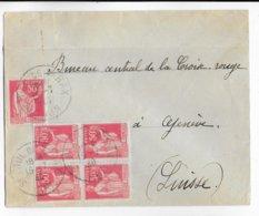 1940 - PAIX - ENVELOPPE De ST PAUL DE VARAX (AIN) TARIF 2F50 => GENEVE (SUISSE) - 1921-1960: Modern Period