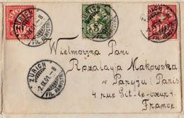 SUISSE - 1901 - Pli Pour Paris - 1882-1906 Wappen, Stehende Helvetia & UPU