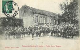 CPA - Fanfare Du 14è Dragon En 1908 - Maison Des Dernières Cartouches Bazeilles 08 Ardennes Sedan Rossillon Photo Sedan - Sedan