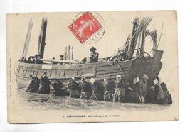 62 - BERCK-PLAGE - Mise à Flot Par Les Matelotes - Beau Plan. - Berck