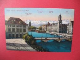 Carte  Zürich  Helmhaus Und Post  1919 - ZH Zurich