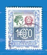Italia ° - Anno 2005 - ALTI VALORI € 1,00. IPZS SPA , Unif. 2843. Usato. - 6. 1946-.. Republik