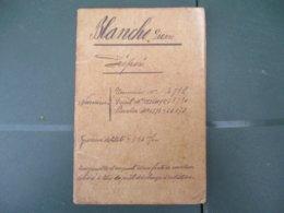 SERVICE DES DOUANES LIVRET DU Sr BLANCHO PIERRE ADMIS DANS L'EMPLOI DE PREPOSE LE 1er 7bre 1891 DIRECTION BREST - Documents Historiques