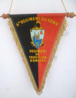 FANION 6° RG REGIMENT DU GENIE REGIMENT DE TRADITION D' ANGERS - Flags
