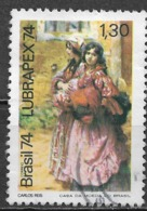 Brazil 1974. Scott #1372 (U) LUBRAPEX 74, The Girls, By Carlos Reis ** Complete Set - Gebruikt