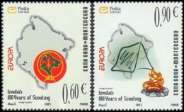 CEPT / Europa 2007 Monténégro N° 146 Et 147 ** Le Scoutisme - Europa-CEPT