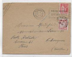 1933 - PAIX - ENVELOPPE LOCALE De AVIGNON READRESSEE => PARIS POSTE RESTANTE Avec TAXE - 1921-1960: Modern Period