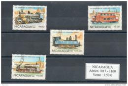 Nicaragua. Poste Aérienne. Trains - Nicaragua