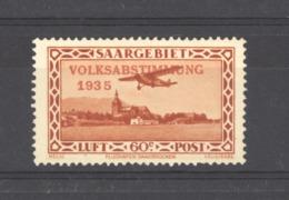 Sarre  -  Avion  :  Yv  6  * - Poste Aérienne