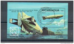 Nicaragua. Bloc Feuillet. 75eme Anniversaire De La 1ere Liaisoin Aérienne - Nicaragua