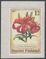 Finland 2007 - Candlestick Lily (flower) - Self-adhesive Stamp Mi 1842 MNH ** - Finland