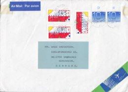 Netherlands LUCHTPOST & AIR MAIL Labels HERTOGENBOSCH 1996 Cover Brief BRØNSHØJ Denmark 3x ATM / Frama Labels - Marcofilia - EMA ( Maquina De Huellas A Franquear)