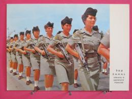 Israël - Tzahal Corps Féminin De L'Armée De Défense Nationale Armées De Mitraillettes - Scans Recto Verso - Israel