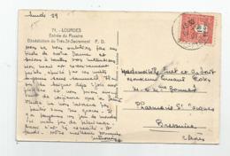 Marcophilie  1945 Timbre Seul Arc De Triomphe 1f50 De Lourdes A Bressuire Pharmacie St Jacques - 1921-1960: Modern Period