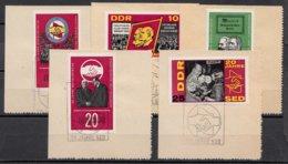DDR 1966  Mi.nr. 1173-1177  20.Jahre Sozialistische....  OBLITÉRÉS-USED-GEBRUIKT - [6] République Démocratique