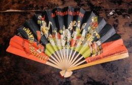 VENTAGLIO IN CARTA E LEGNO PUBBLICITA'  L.GIFFARD  DISTILLATEUR (ANGERS) - Fans