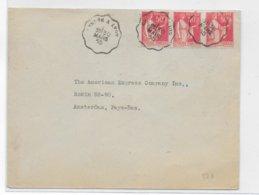 1935 - PAIX - ENVELOPPE Avec AMBULANT De GENEVE (SUISSE) à LYON => AMSTERDAM (PAYS-BAS) - 1921-1960: Modern Period
