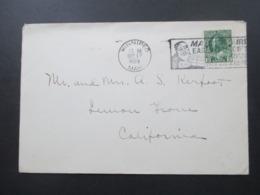 Kanada 1925 Christmas Post Weihnachtsstempel Mail Early! Winnipeg Christmas / Santa Claus - Cartas
