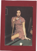CARTE CPM PUB KOOKAI PRINTEMPS/ETE  1992 FEMME ATTIRANTE SEXY  AU BILLARD TOUT DANS LE REGARD - Moda