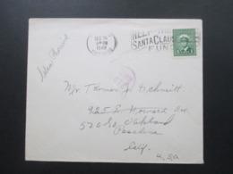 Kanada 1949 Christmas Post Weihnachtsstempel Help The Santa Claus. Rückseitig Mit Vignette Christmas Greetings - Cartas
