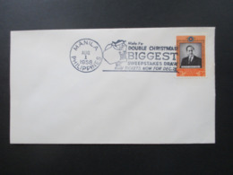 Philippinen 1958 Weihnachts Stempel / Christmas Cancel Santa Claus Make It Double Christmas Biggest Sweepstakes Draw - Noël