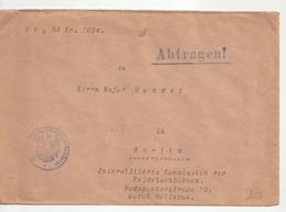 Lettre Allemagne Du Ministère Du Transport /Reichsverkehrsministerium Pour Commission Interalliée Avec Cachet - Duitsland